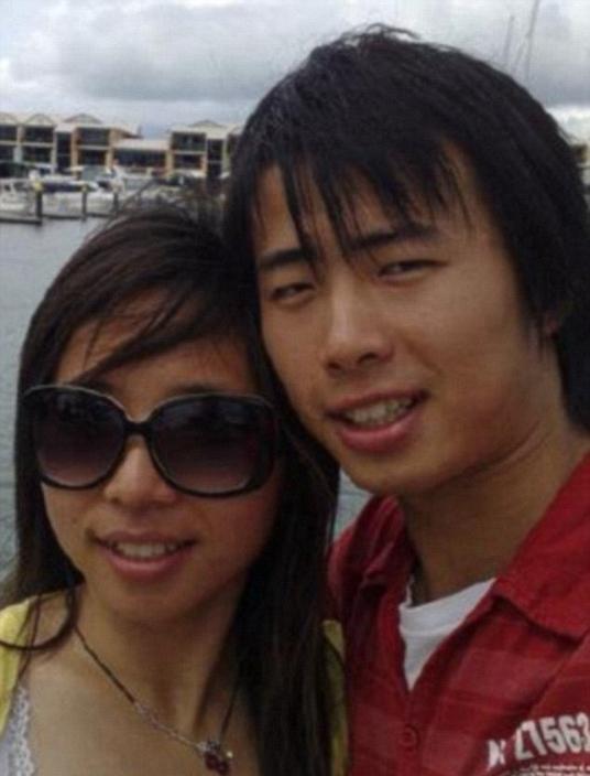 曹媛媛與丈夫。網圖