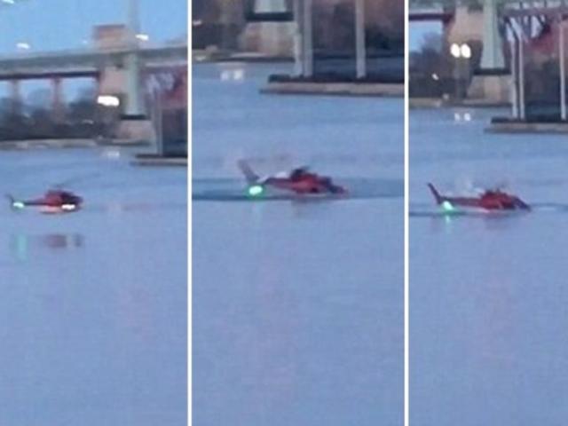 直升機迫降伊斯特河。 網圖