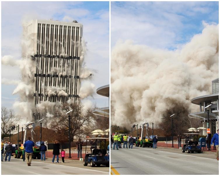 資本廣場大樓已被夷平。AP