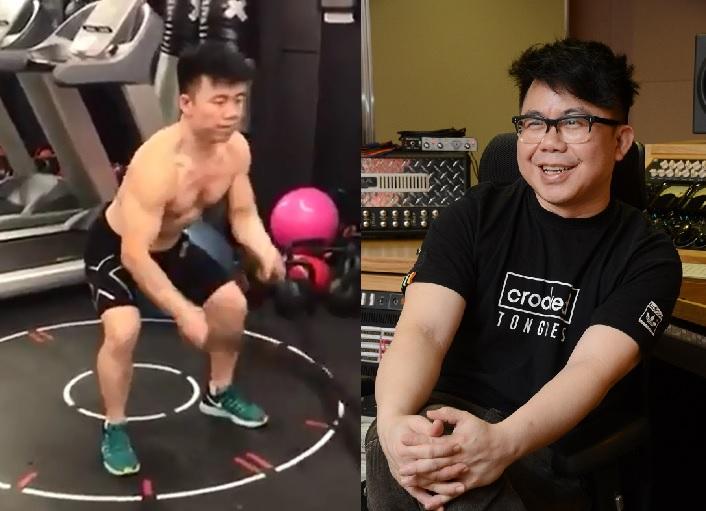 經過連月來的操練,Hanjin已由肥仔變成肌肉男。