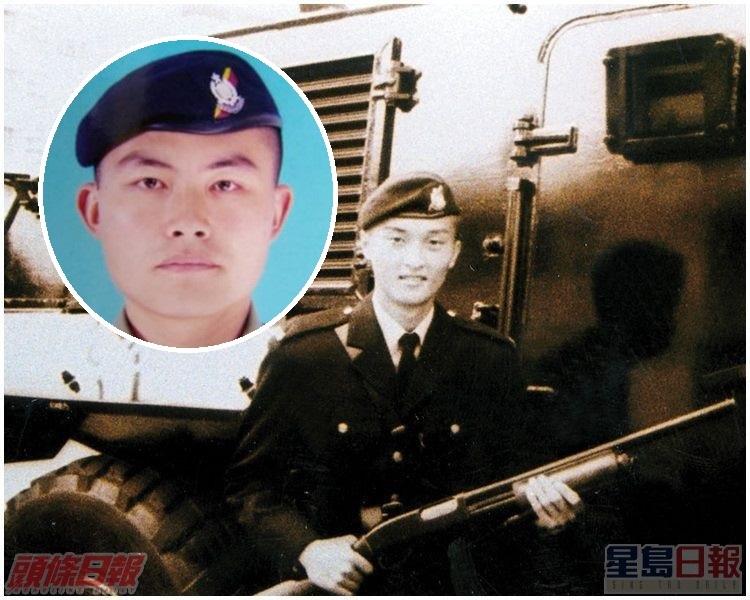 2001年的3月14日,「警魔」徐步高(小圖)槍殺同袍梁成恩。資料圖片