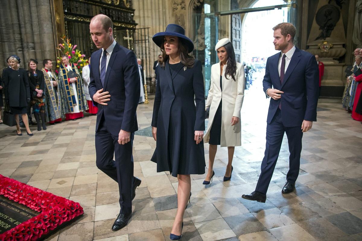梅根和凱特夫婦出席國協日慶祝。AP圖片