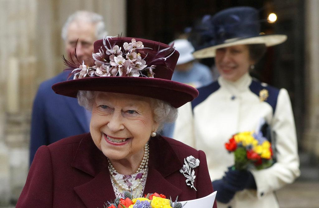 伊利莎白二世出席英聯邦日。AP圖片