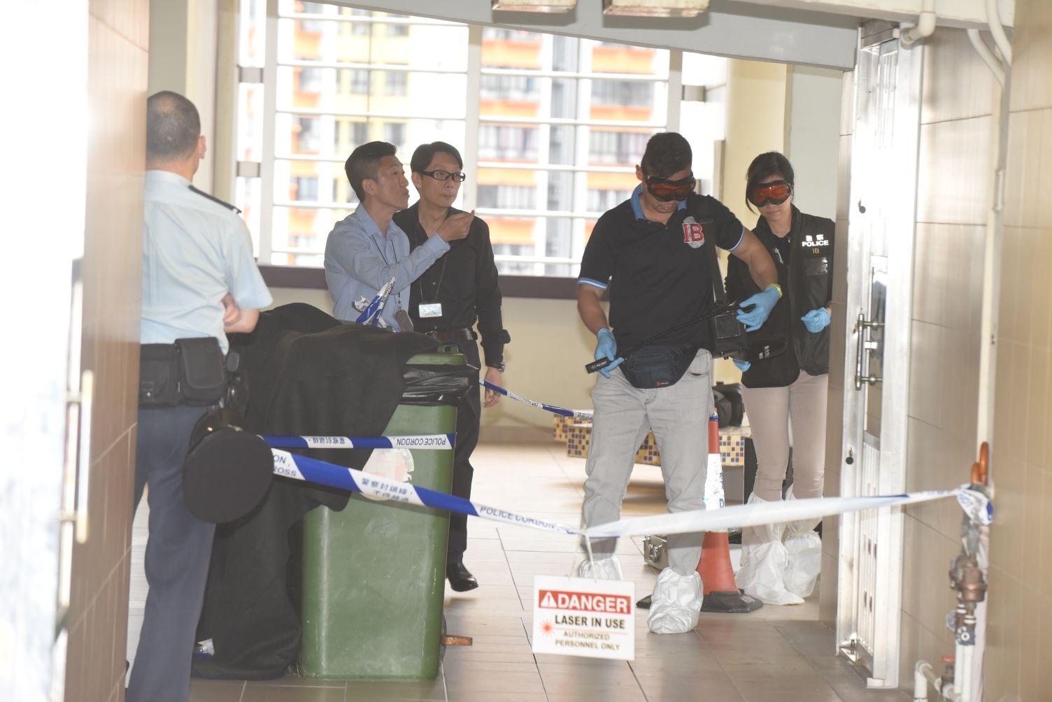 警方封鎖現場調查。徐裕民攝