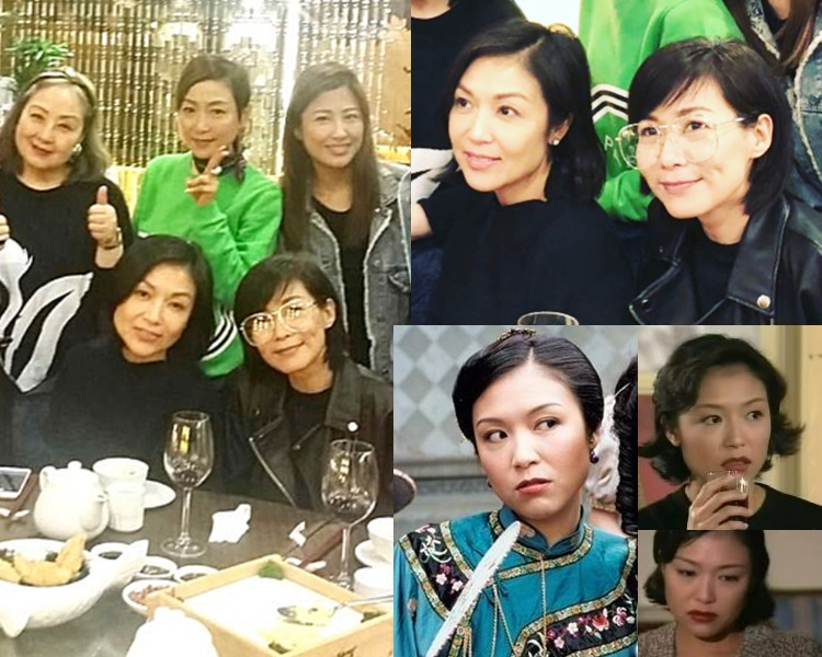 久未露面的張鳳妮與盧宛茵、周家蔚、趙學而等人食飯。