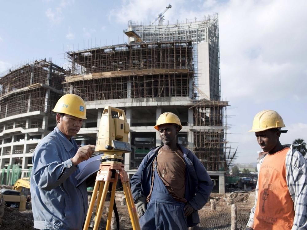 中國在非洲的基建項目。新華社圖片