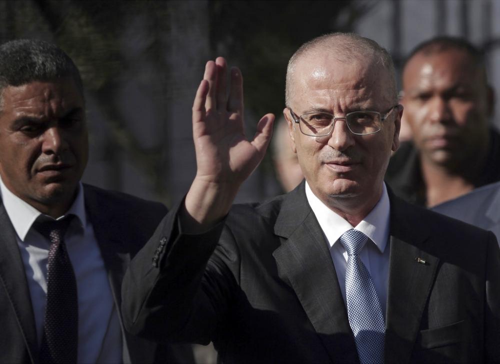巴勒斯坦總理哈姆達拉並無受傷。AP圖片
