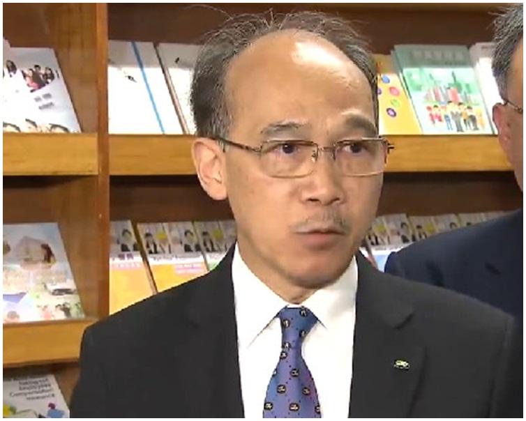 郭振華在會後表示會上未有討論取消強積金對沖問題。電視截圖
