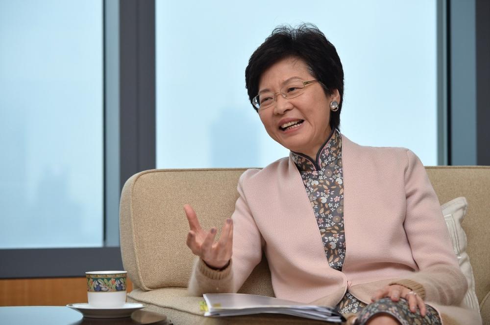 林鄭月娥指國家主席習近平愈來愈有魅力和令人欽佩。資料圖片