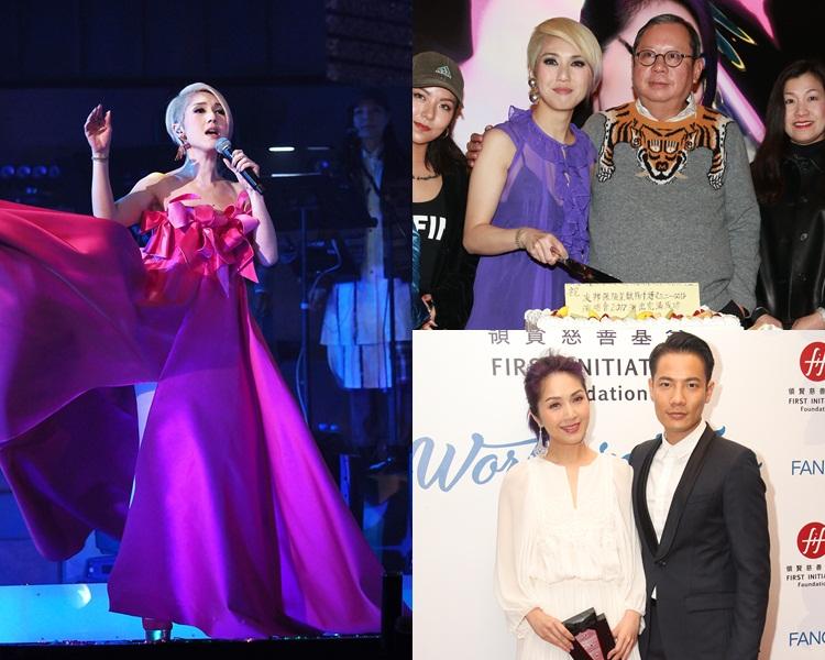 楊千嬅今年初完成跨年演唱會,跟老闆林建岳慶功,並正式離開寰亞過檔老公公司。