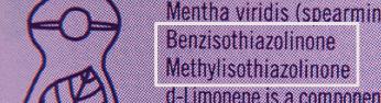 benzisothiazolinone,或簡稱BIT,就是「可致敏防腐劑」。