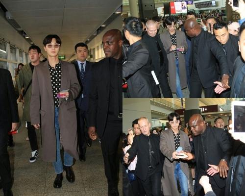 朴敘俊騷機場時尚帥氣抵港 邊行邊簽名超友善