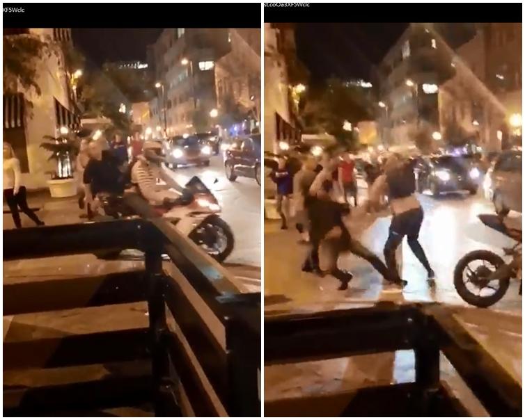 司機下車一拳擊倒醉漢。片刻截圖