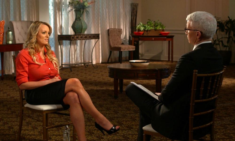 女星克利福德(Stephanie Clifford)在電視節目中公開自己與總統特朗普的性關係。AP圖片