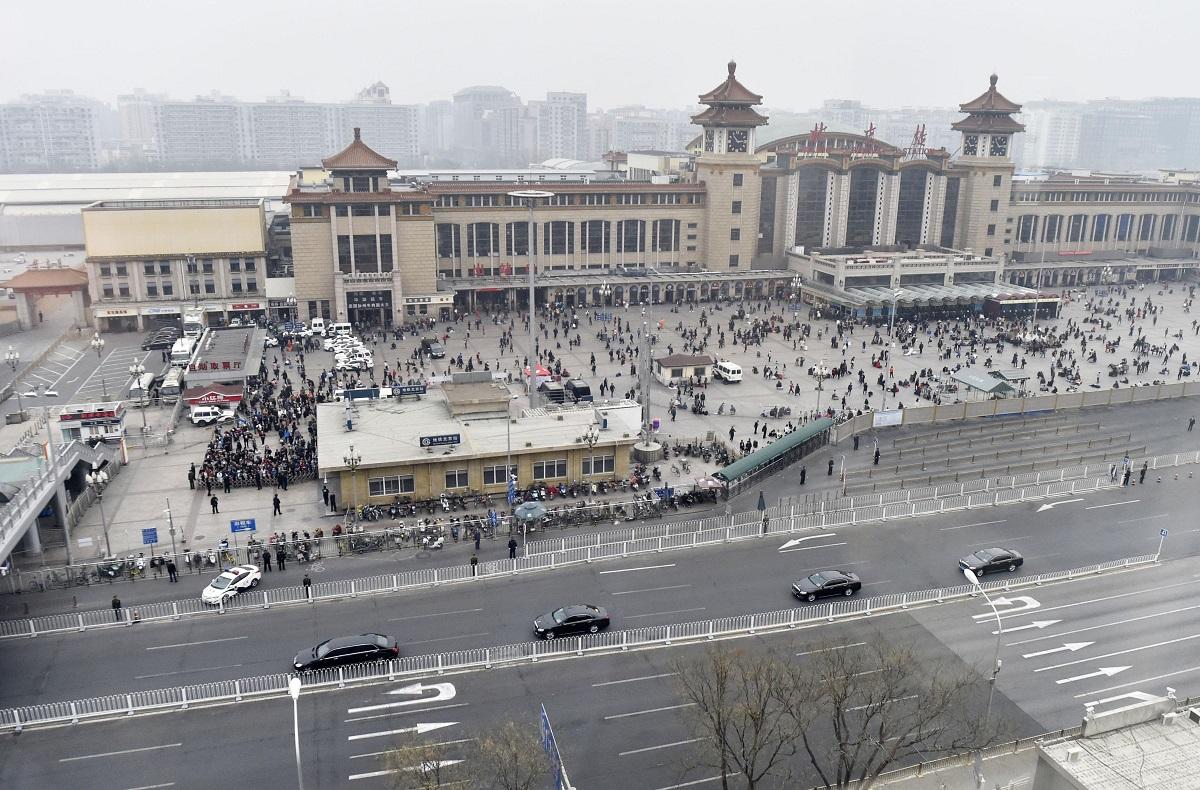 金正恩被傳已經離開北京。AP圖片