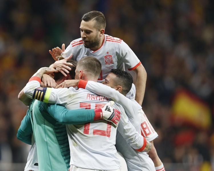 西班牙6:1大勝阿根廷。AP