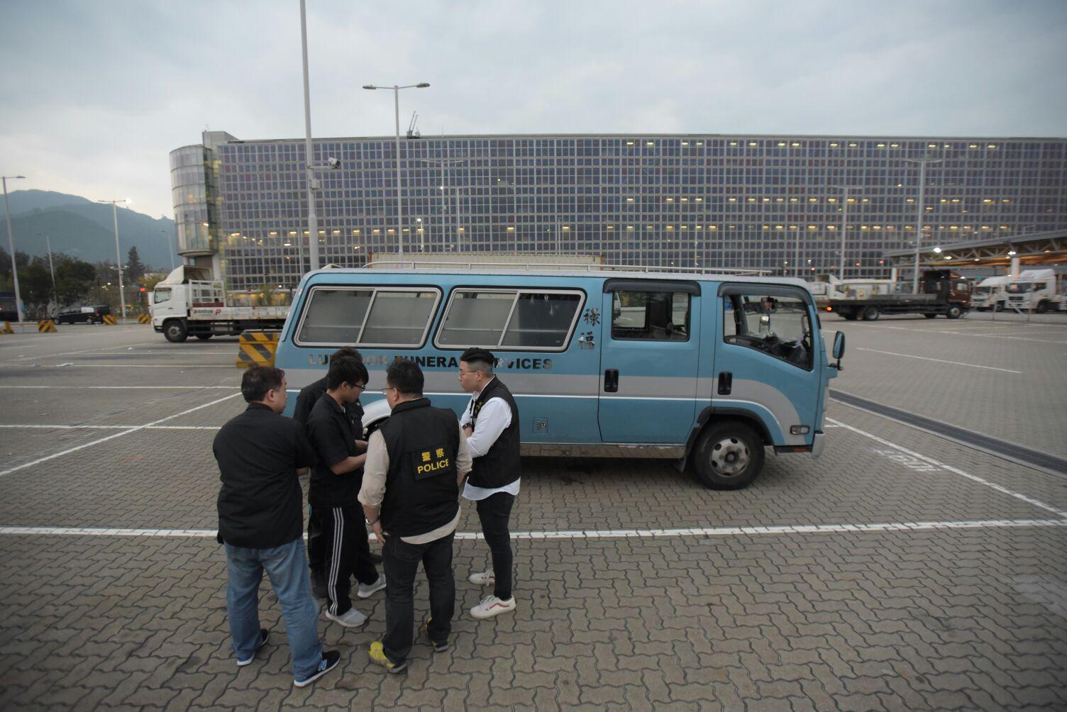 潘曉穎遺體由貨機從台灣運返香港。黃文威攝
