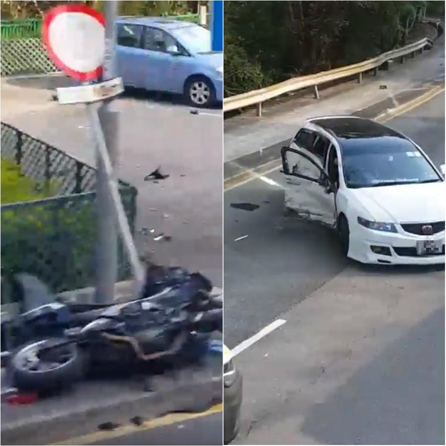 大埔道電單車意外。Christopher Ming Pok Ng圖片