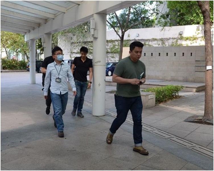 東九龍重案組探員到葵涌殮房調查。歐陽偉光攝