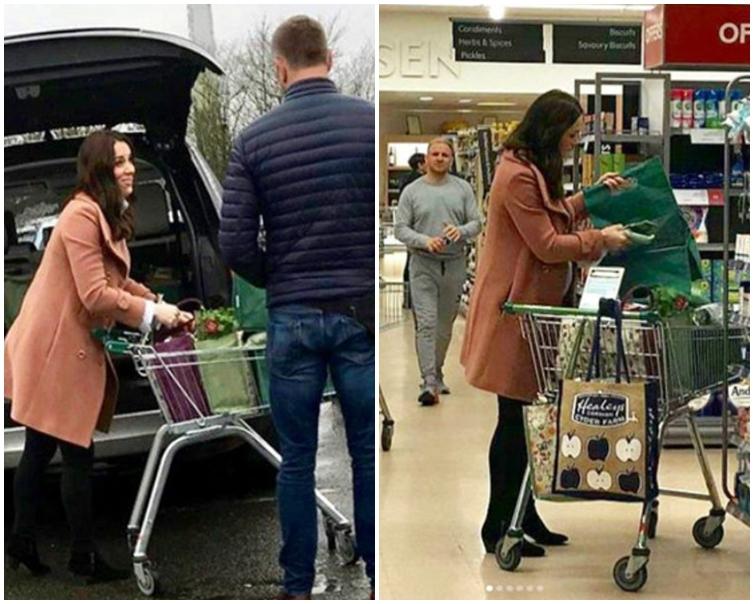 凱特王妃身穿粉色長外套,下半身搭配黑色緊身褲及短靴。網圖