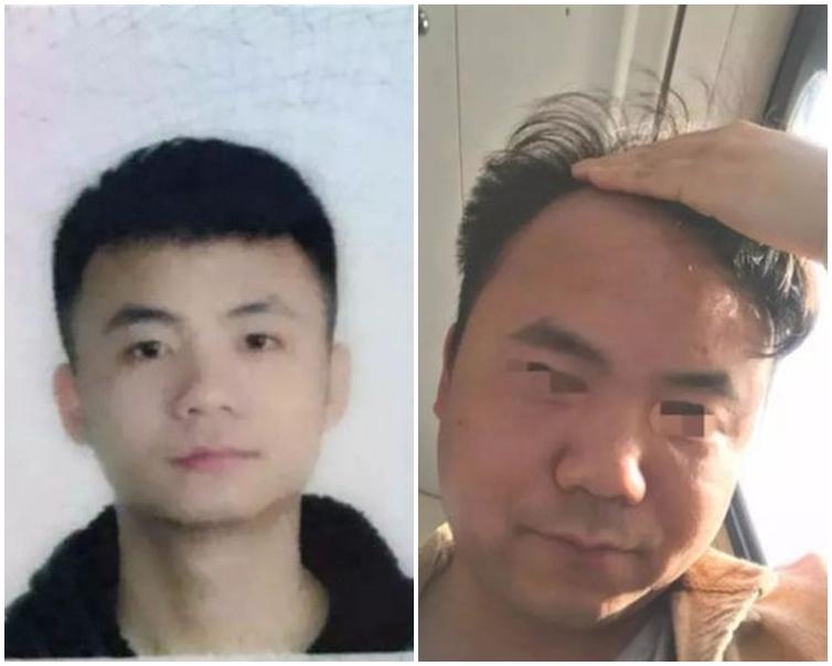 2張照片中的男子完全是判若兩人。網圖