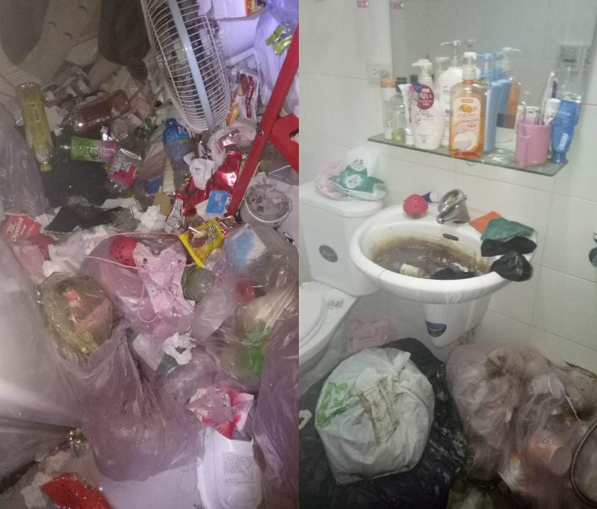 女租客退租時更在單位內堆滿垃圾雜物,浴室污垢多得令戶主直言「看了想作嘔!」