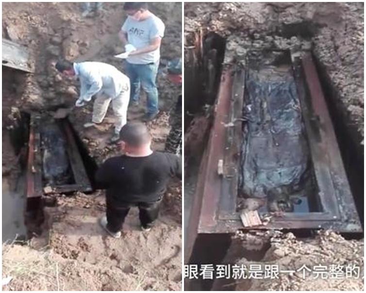 梁氏祖先遺體保存完整的,只有梁克峻一人。網圖