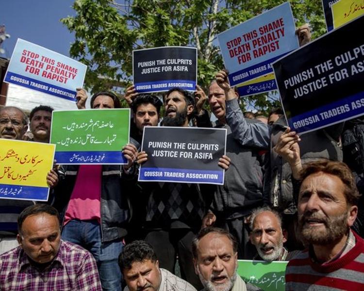 團體示威要求釋放疑犯。AP