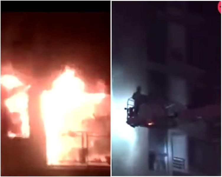大火約40分鐘後被救熄。網圖