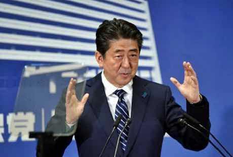 日本首相安倍晉三的支持率跌至26.7%,是2012年12月他第二次執政以來最低。網上圖片