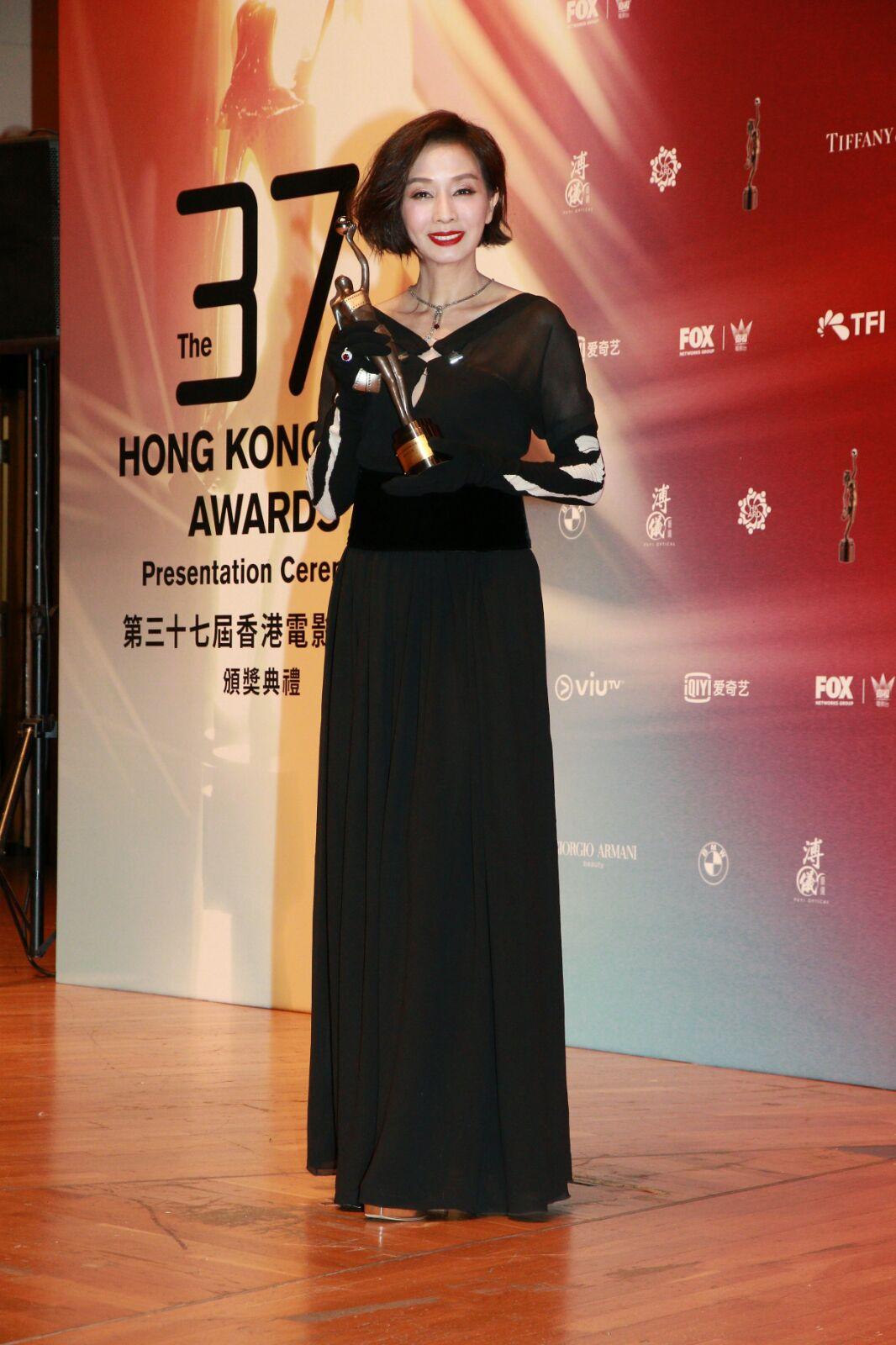 毛舜筠10年前奪「最佳女配角」,昨日獲「最佳女主角」,坦言作為演員覺得好圓滿。