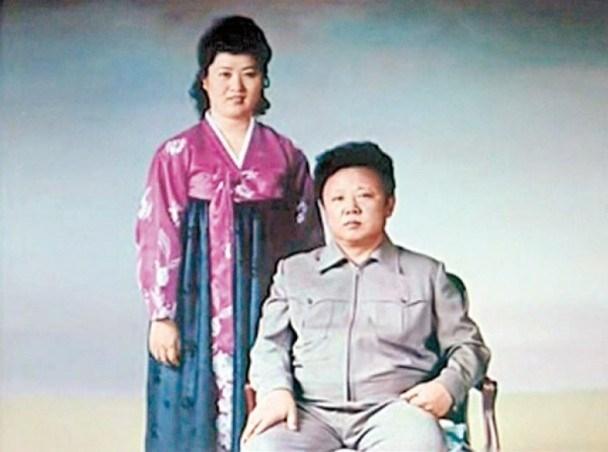 高英姬與丈夫金正日。(網圖)
