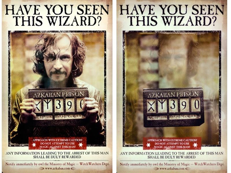 以1.8萬美元高價成交的這款動態海報,在不同角度觀看海報,會發現天狼星現身又消失。(網圖)