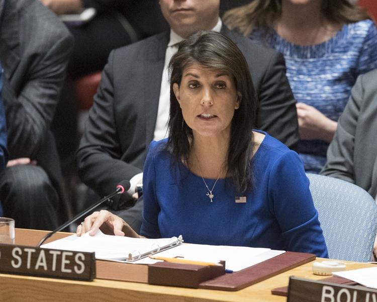 美國駐聯合國大使黑莉。AP