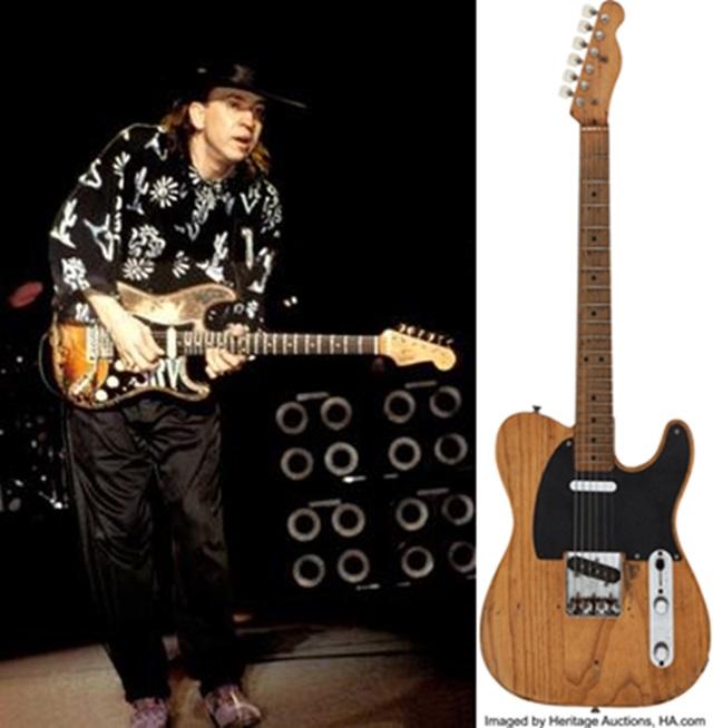 已故傳奇藍調吉他手沃恩(Stevie Ray Vaughan)在第一次灌錄唱片時使用的一把結他,以25萬美元(196萬港元)高價拍出。