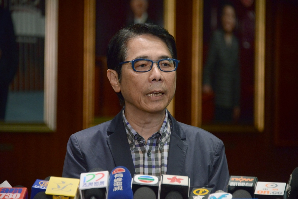 黃國健不認為喬曉陽來港是就23條立法施壓。資料圖片