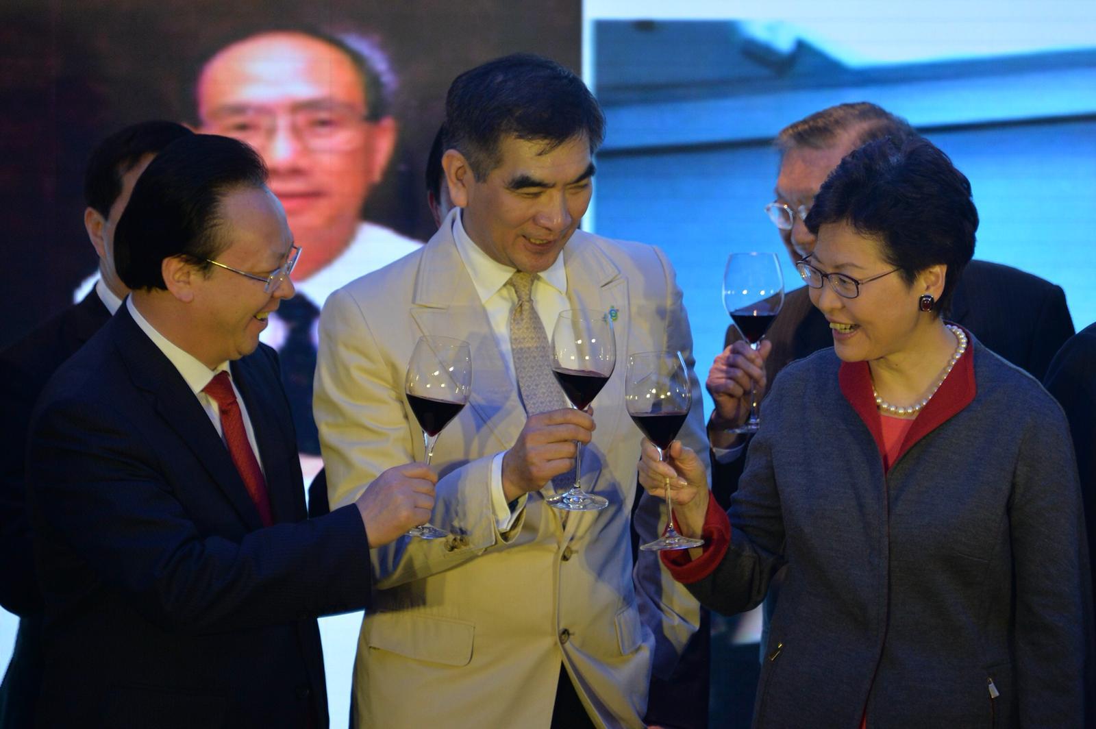 林鄭月娥出席自由黨酒會