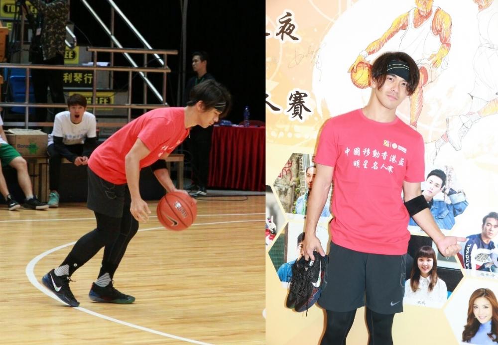 愛好籃球的龐景峰表示自少已不停打,還吸納了不少女粉絲為他打氣。