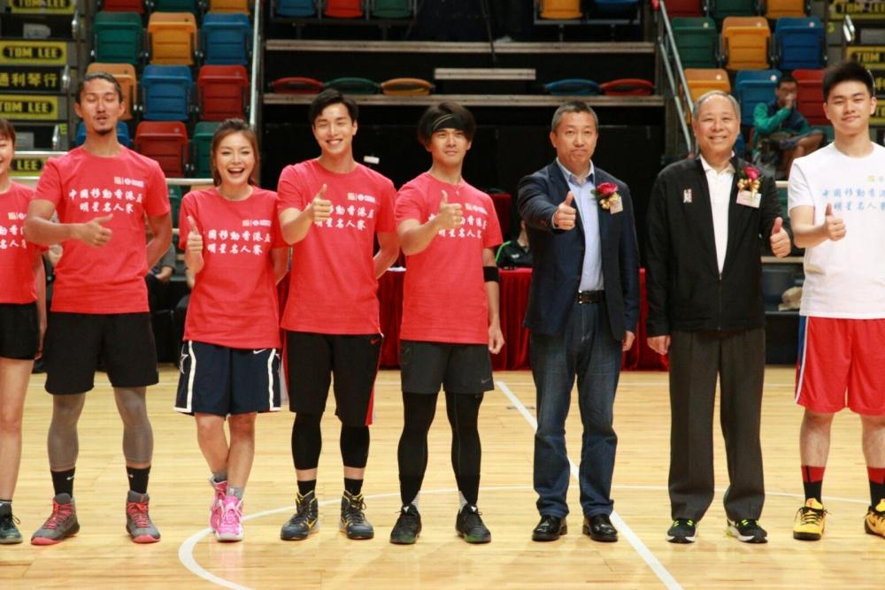 龐景峰昨晚出戰明星籃球賽。