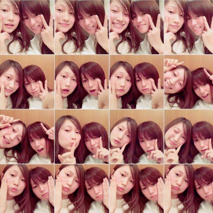 素顏深田恭子與友人自拍。