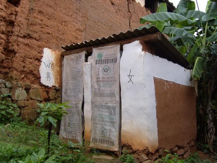農村許多廁所過分簡陋。網上圖片