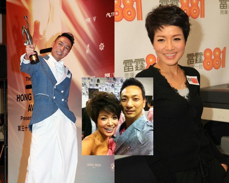 見證好友姜皓文奪「最佳男配角」,寶珮如與老公也爆喊。