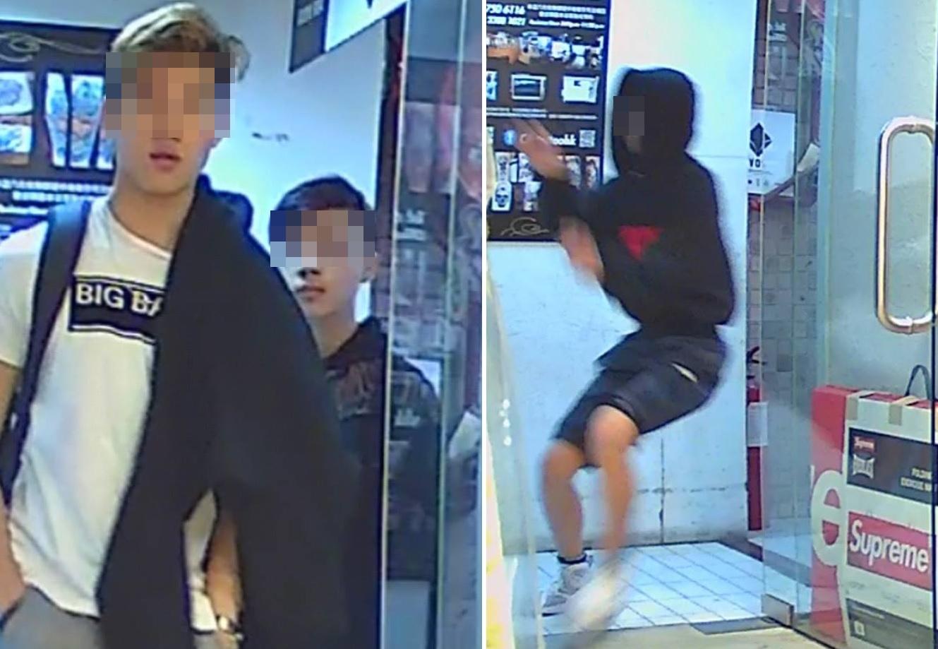 疑犯於事發前一小時曾與另一名少年到場踩線。