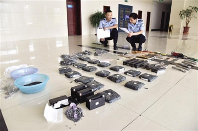 雲南剿滅地下兵工廠。網上圖片