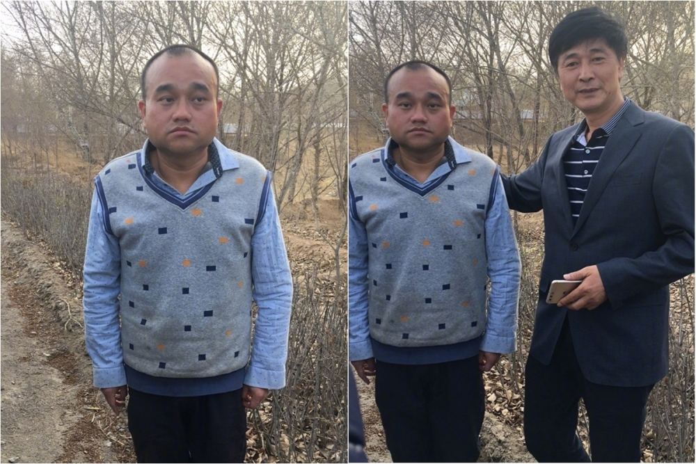 廣州醫生譚秦東(藍衫)被拘留3個月獲釋。網上圖片
