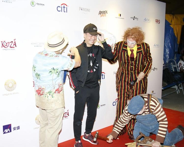 天華被小丑除帽搞到尷尬。