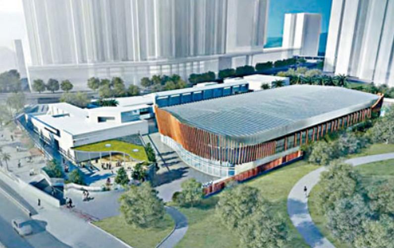 準備改建的黃大仙摩士公園泳池。資料圖片