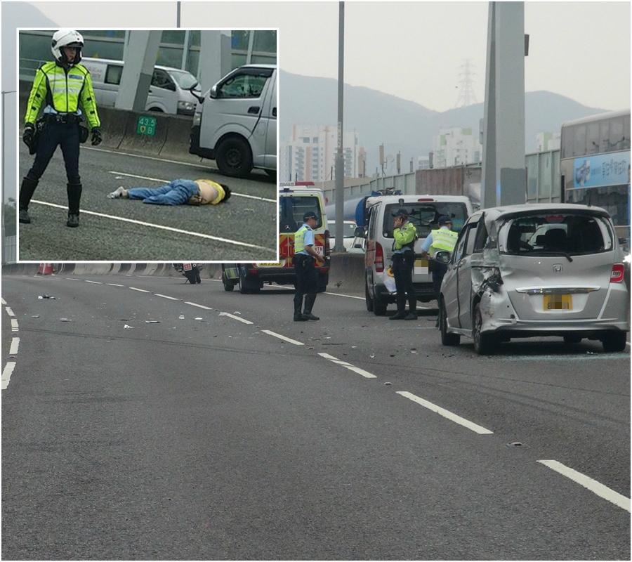 元朗公路車禍。