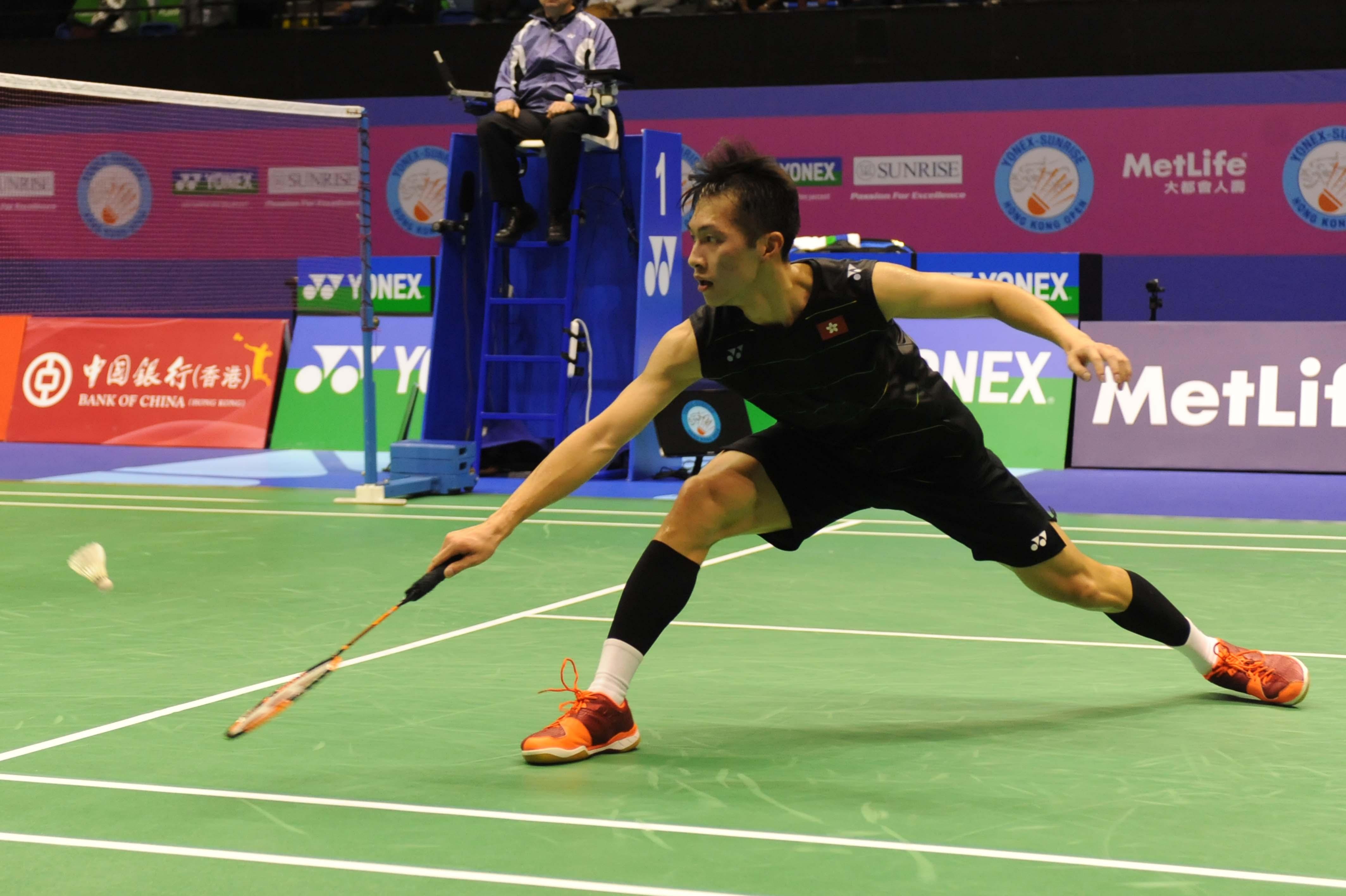 伍家朗出戰亞洲羽毛球錦標賽,在八強止步。資料圖片