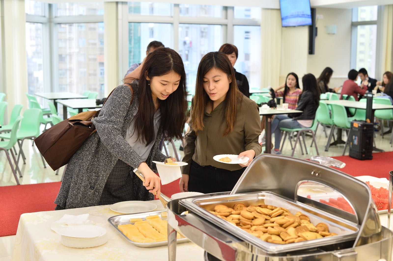 員工餐廳,提供小食給參觀賓客。